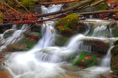 Mountain river at autumn time Royalty Free Stock Photos