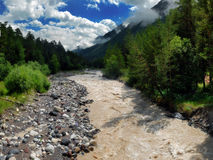 The mountain river Baksan Royalty Free Stock Photo