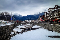 Mountain river in Bansko Royalty Free Stock Photo