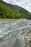 Mountain river Bastan in the spring French Pyrenees Stock Image