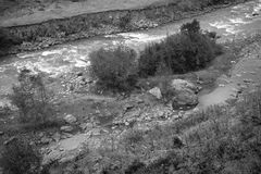 Mountain river on beautiful autumn mountain landscape in Georgia Stock Photos