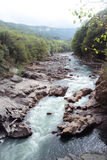 Mountain river. Beautiful mountain river in the North Caucasus Stock Photos