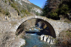 Mountain river Belagua in the winter Pyrenees Stock Photography