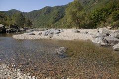 Mountain and river. Mountain river Benxi China Royalty Free Stock Photo