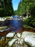 Mountain river with big stones Royalty Free Stock Photo