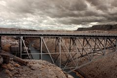 Mountain River Bridge Stock Image