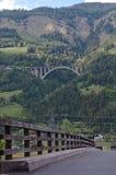Mountain river bridge Stock Photography