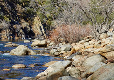 Mountain River, California, United States Royalty Free Stock Photos