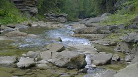 Mountain river in canyon stock footage