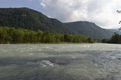 Mountain river in the Caucasus Stock Photo