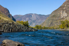Mountain river Chulyshman Royalty Free Stock Images