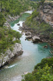 Mountain River. Clear water of Moracha river, Montenegro Royalty Free Stock Photos