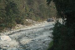 Mountain river clidked from the road,Gangtok,Sikkim, India