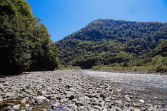 Mountain river. Cold mountain river flowing past rocks Royalty Free Stock Photography