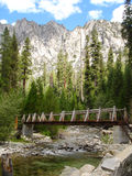 Mountain river crossing Royalty Free Stock Image