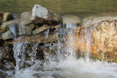 Mountain river fall Royalty Free Stock Images