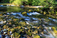 Mountain river. Fast cold river in the mountains Royalty Free Stock Photos