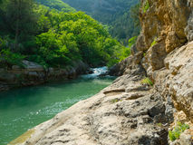 Mountain river flowing in Crimea Royalty Free Stock Photography