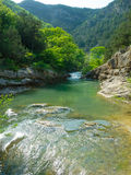 Mountain river flowing in Crimea Stock Photography