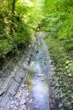 Mountain river. Flowing between rocks Stock Photo