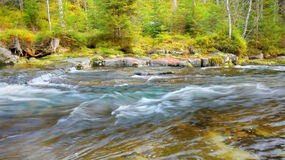 Mountain river, Flowing water, Flow Creek Stock Photo