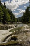 Mountain river. The river flows in mountains Carpathians royalty free stock photos