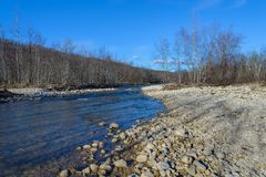 The mountain river Stock Photography