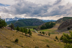 Mountain river forest valley Royalty Free Stock Image