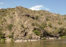 Mountain river in Georgia, Adjarija. Mountain in Georgia, Adjarija coast Royalty Free Stock Photos