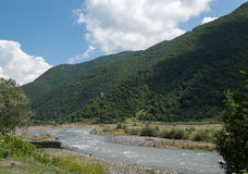 Mountain river in Georgia Royalty Free Stock Image