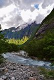 Mountain river. River from the glacier, near Loen, Norway Stock Images