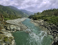 Mountain  river in Himalayas Royalty Free Stock Photo