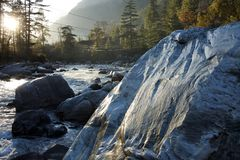 Mountain river in India royalty free stock images