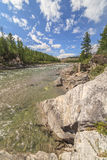 The mountain river Irkut in East Sayan mountains. Royalty Free Stock Photography
