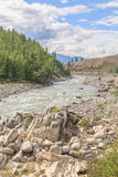 The mountain river Irkut in East Sayan mountains. Stock Photography