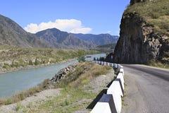 Mountain river Katun along Chuysky Trakt Stock Photography