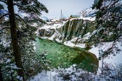 Mountain river Katun, Altai, Russia. A winter scenic Stock Photos