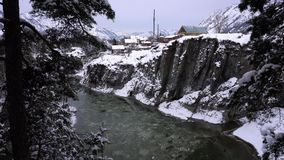 Mountain river Katun, Altai, Russia. A winter scenic. Mountain river Katun, Altay, Russia. A winter scenic on Chemal stock video