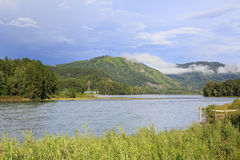 Mountain river Katun in Altay. Royalty Free Stock Photos