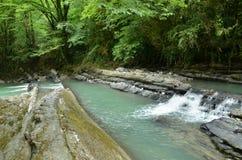 Mountain river in Krasnodar Krai Stock Photography