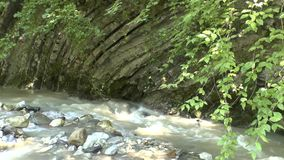 Mountain River Kuapse in the mountains of the North Caucasus stock footage