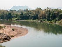 Mountain&River Kwai Kanchanaburi Στοκ φωτογραφία με δικαίωμα ελεύθερης χρήσης