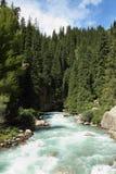 Mountain river. Kyrgyzstan.mountain river , Summer sunny day Stock Photo