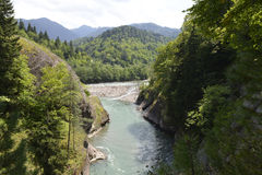 Mountain river Laba in the Caucasus Royalty Free Stock Photography