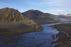 Mountain river in Laguna de Laja National Park, Chile Stock Photo