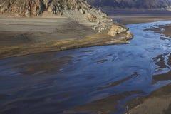 Mountain river in Laguna de Laja National Park, Chile Royalty Free Stock Photos
