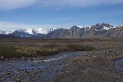 Mountain river in Laguna de Laja National Park, Chile Stock Images