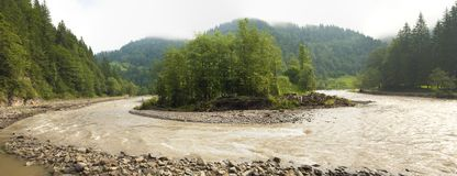 Mountain river landscape Royalty Free Stock Photo