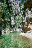 Mountain river. Landscape crystal clear mountain river Royalty Free Stock Photography