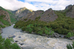 Mountain river. The landscape of Niyang River in Tibet, China Stock Image